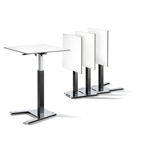 Contemporary high bar table / wood veneer / metal / HPL CEGANO : 52440-1.3|S10004 C+P Möbelsysteme GmbH & Co. KG