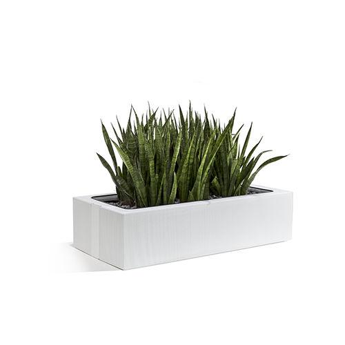metal garden pot / free-standing / rectangular