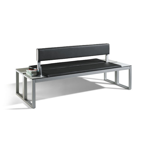Public bench / contemporary / steel / leather VITAS : 8152-920|S10025 C+P Möbelsysteme GmbH & Co. KG