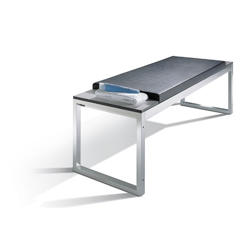 Public bench / contemporary / steel / leather VITAS : 8152-900|S10057 C+P Möbelsysteme GmbH & Co. KG