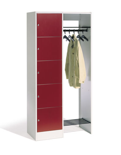 Metal locker / with open coat rack / for offices SERIE 8070 C+P Moebelsysteme