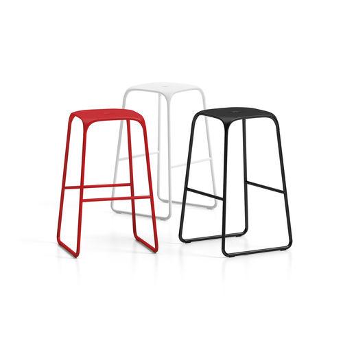Minimalist design bar stool / chrome steel / polypropylene / commercial BOBO Connection