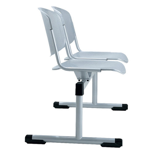 steel beam chair / 2-person / indoor
