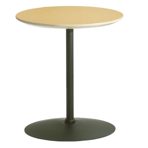 contemporary bistro table / steel / round / commercial