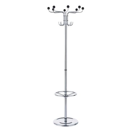 floor coat rack / contemporary / metal / with integrated umbrella stand
