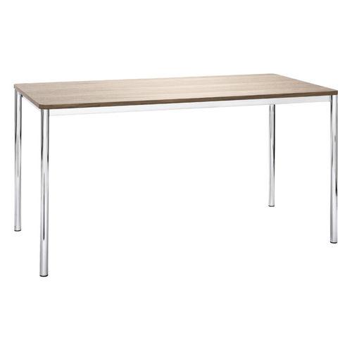 Contemporary work table / HPL / wooden / steel TIMELESS by Eduard Euwens BRUNE Sitzmöbel GmbH
