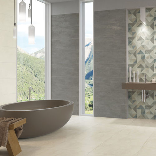 indoor tile / wall / porcelain stoneware / ceramic