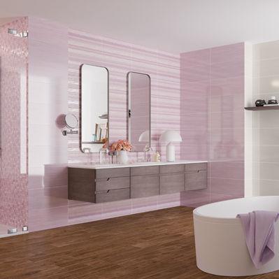 bathroom tile / floor / porcelain stoneware / 45x45 cm