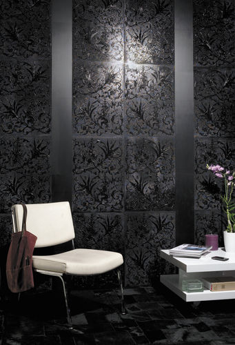 PVC decorative panel / leather / wall-mounted / lacquered
