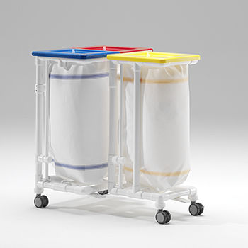 linen trolley / for healthcare facilities / stainless steel