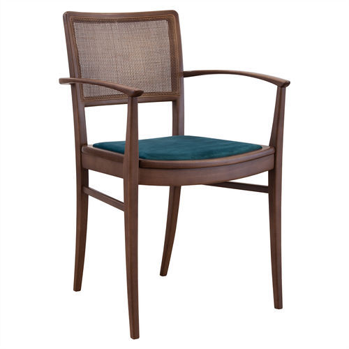 contemporary chair / upholstered / with armrests / ergonomic