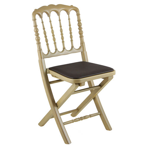 traditional chair / folding / wooden / contract