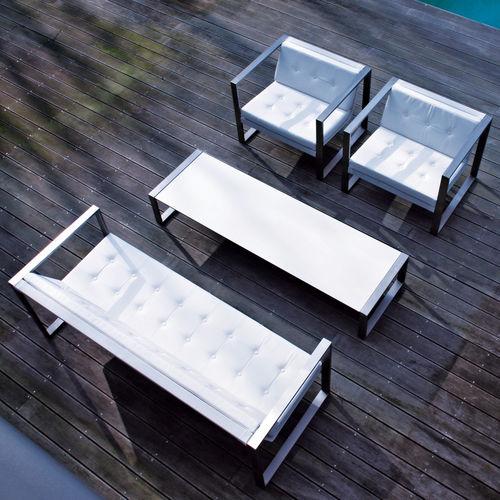 contemporary coffee table / glass / teak / ceramic