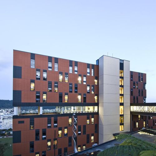 terracotta cladding / smooth / panel / gray