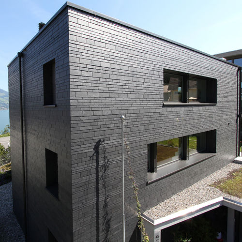 slate cladding / natural / cassette / concrete look