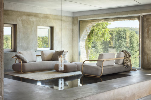 Contemporary sofa / leather / solid wood / bentwood 2000 THONET