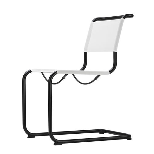 contemporary garden chair / with armrests / cantilever / steel