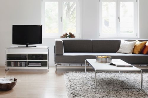 Coffee table / contemporary / wooden / steel B 20 THONET