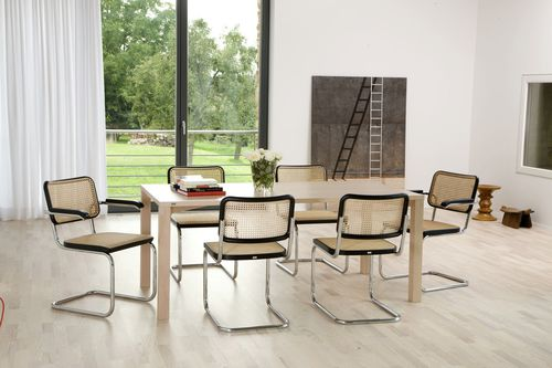 Contemporary chair / fabric / wooden / leather S 32 THONET
