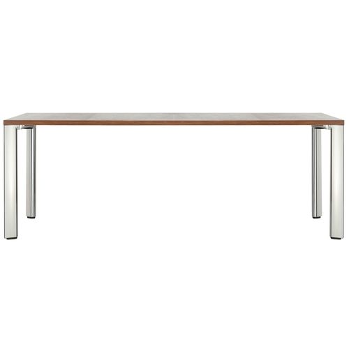 Contemporary conference table / wooden / leather / rectangular A 1700 EVO by Uwe Sommerlade THONET
