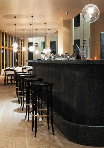 Bar stool / traditional / beech / bentwood 204 by Gebrüder Thonet THONET