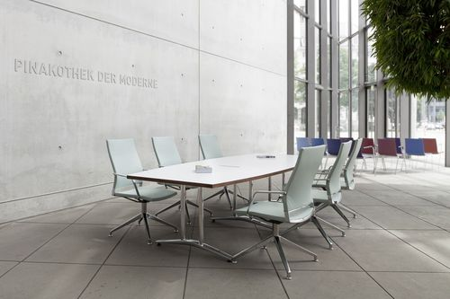 Conference table / contemporary / aluminum / wooden A 1700 EVO by Uwe Sommerlade THONET