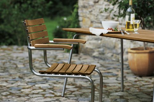 Contemporary chair / solid wood / stainless steel / commercial S 40 by Mart Stam THONET