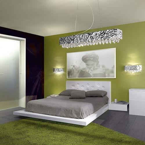 contemporary wall light / crystal / incandescent / rectangular