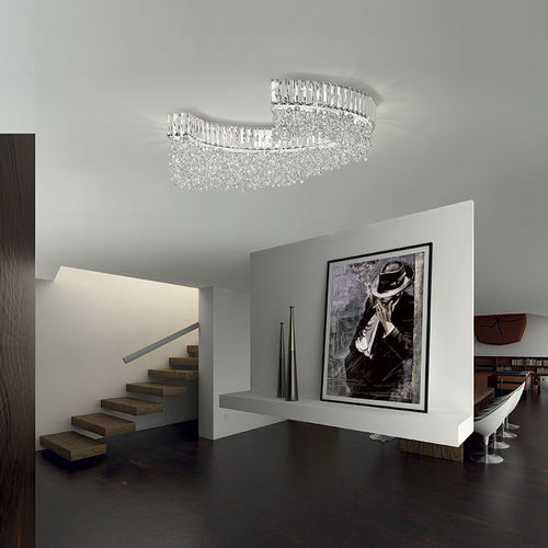 contemporary ceiling light / crystal / fluorescent / home