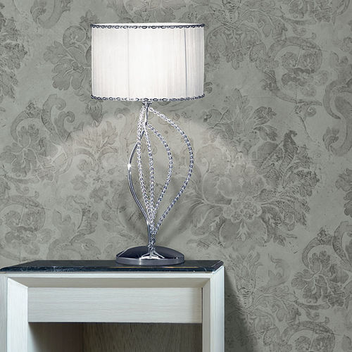 table lamp / contemporary / crystal / fabric