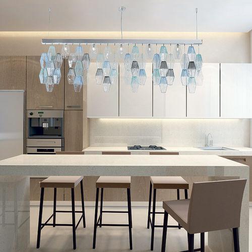 hanging light fixture / LED / Murano glass