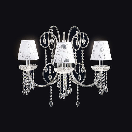 traditional wall light / crystal / halogen