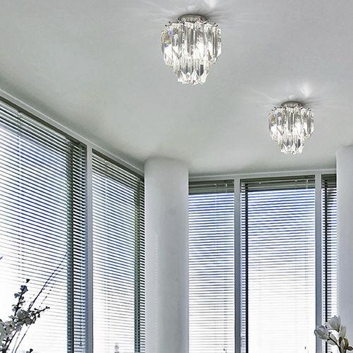 contemporary ceiling light / glass / fluorescent / home