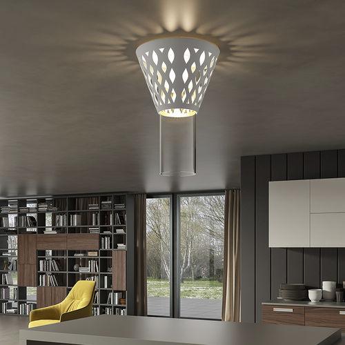 contemporary ceiling light / metal / LED / home