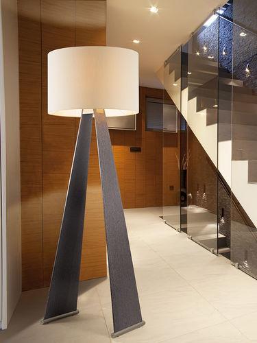 floor-standing lamp / contemporary / fabric / white