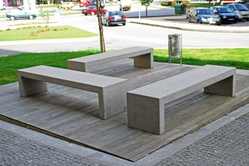 Public bench / contemporary / concrete / commercial MODULAR : R by António Carvalho Amop Synergies