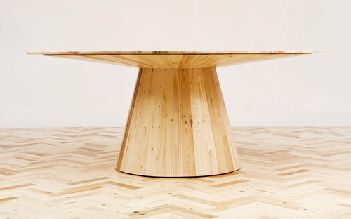 Round table / contemporary / wood / in reclaimed material WASTE NOT WANT NOT studiomama