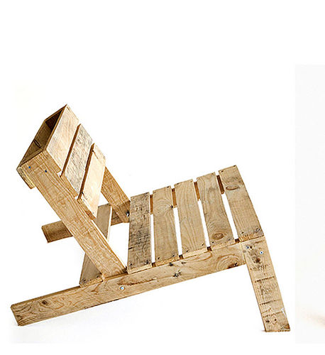 contemporary fireside chair / wooden