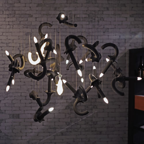 custom chandelier / original design / porcelain / LED