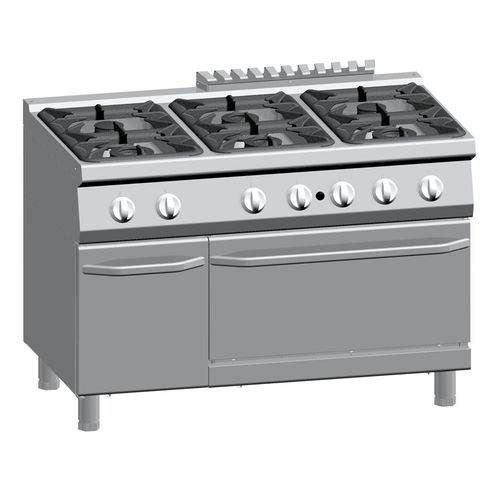 gas range cooker / commercial / stainless steel