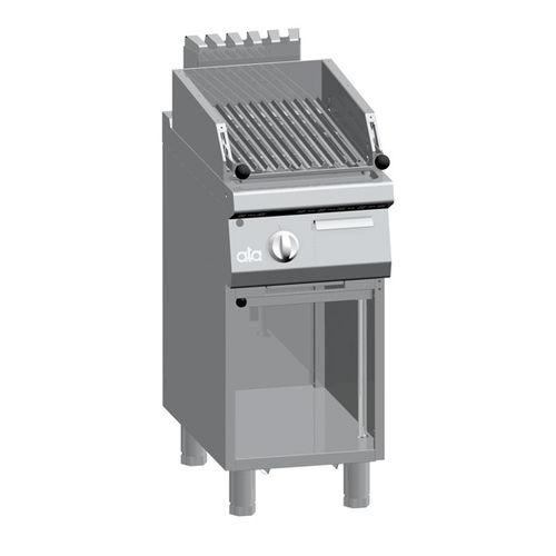 gas grill / floor-mounted / commercial / stainless steel