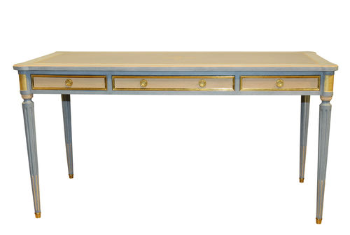 Wooden desk / leather / Louis XVI style LACROIX Balcaen