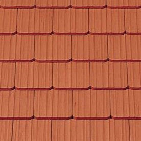 Flat roof tile / clay / red ANTIK CREATON