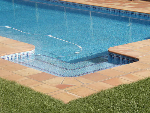 indoor tile / poolside / floor / ceramic