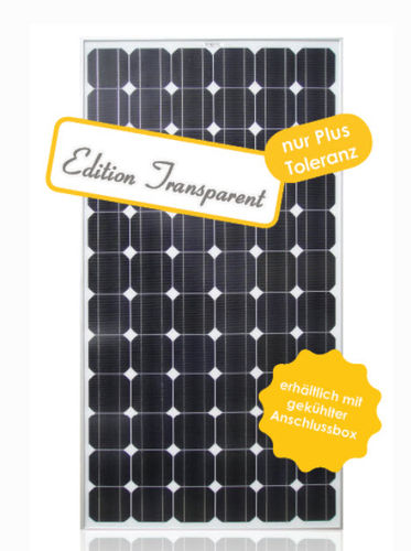 Monocrystalline PV solar panel / standard EDITION TRANSPARENT Galaxy Energy