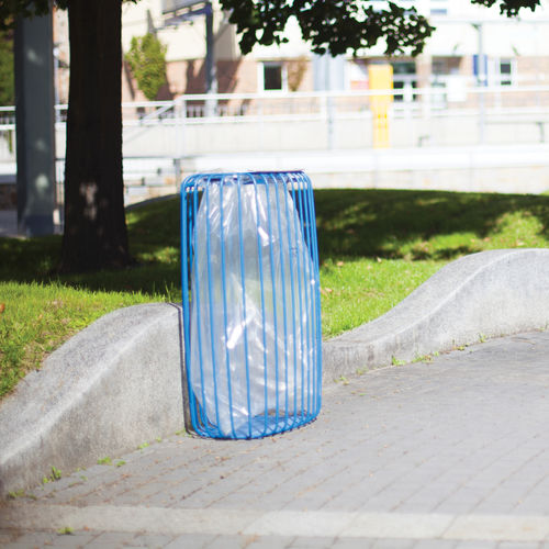 public litter bin / galvanized steel