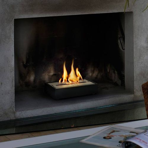 rectangular bioethanol burner / contemporary / free-standing