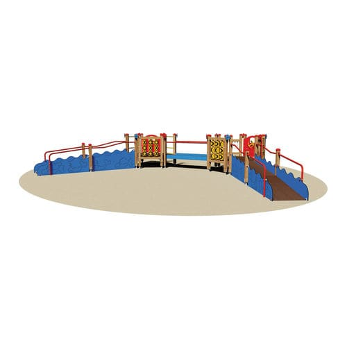 playground play structure / wooden / handicapped