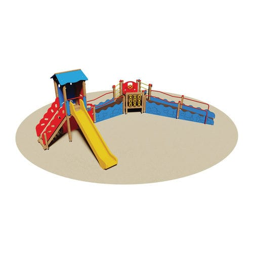 playground play structure / wooden / for handicapped