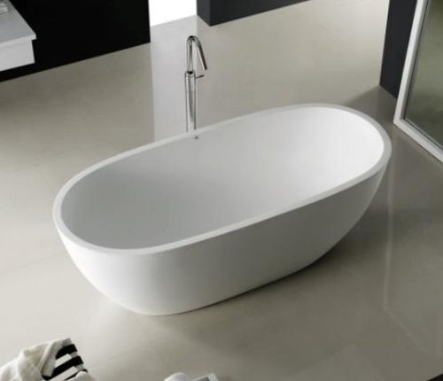 Free-standing bathtub / oval / Solid Surface ATLANTIS COCOON